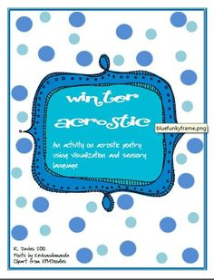 Winter Acrostic product from TheThirdWheel on TeachersNotebook.com