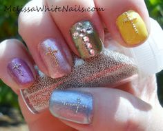 Doing a cross on one nail for Easter! Love the idea!!