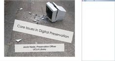 Digital Preservation: Fundamentals on Vimeo Archived webinar from Infopeople Continuing Education, Preserves, Cards Against Humanity, Digital, Image, Collections, Professional Development, Preserving Food, Preserve