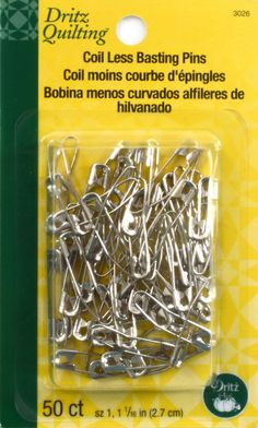 Coil - Less Curved Safety Pin Size 1 50 Ct