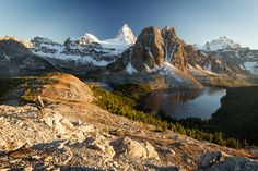 Mount Assiniboine, view from the Nublet Hiking Photography, Photography Guide, Hiking Guide, Lake Forest, Canadian Rockies, Family Camping, Camping Hacks, The Dreamers, Places To Go