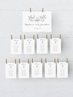 Peg Style Seating Chart Ms Word Template Diy Floral Blush Pink