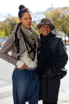 Interesting how the mom is smiling; life lessons learned about happiness? Just wondering... From: On the Street….Mother & Daughter, Paris - The Sartorialist.
