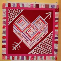 The Q and the U - Quilting Blog: I Heart Selvage Quilting: Progress#Repin By:Pinterest++ for iPad#