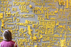 Lego Wall! Words! One color!