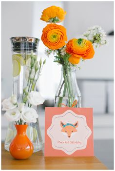 1. Geburtstag / Birthday - Fuchs/Fox, flowers, decoration, gold, rose, peach  - Hellbunt Events