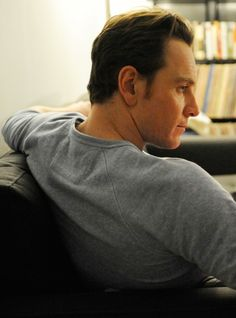 Michael Fassbender. Looks as though he's waiting for a shoulder rub