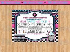 Fifties Dance Party Invitation   Sock Hop by TiffsSweetDesigns, $10.50