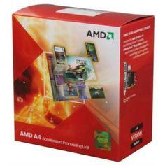 AMD A4-3400 APU with AMD Radeon 6410 HD Graphics 2.7GHz Socket FM1 65W Dual-Core Processor - Retail (AD3400OJGXBOX)