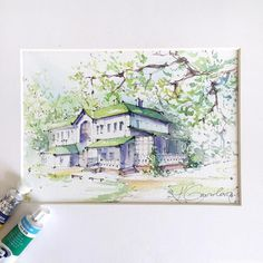 "the estate of Leo Tolstoy ""Yasnaya Polyana"". Sketch by Artist Kristina Gavrilova @xtina_gavrilova_art in Instagram #russia #estate #micron #art #painting #watercolor #watercolour #sketch #paint #drawing #sketching #sketchbook #travelbook #archisketcher #sketchaday #sketchwalker #sketchcollector #traveldiary #topcreator #usk #urbansketch #urbansketchers #скетчбук #скетч #скетчинг #pleinair #aquarelle #watercolorsketch #usk #architecture #painting #illustration"