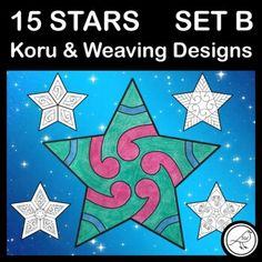 A set of 15 stars designed for New Zealand classrooms when celebrating Matariki or Christmas. The koru and weaving designs are inspired by Māori culture. Two blank templates are also included for your students to design their own whetū.This is SET B which contains 11 koru designs, 3 weaving designs,... School Resources, Classroom Resources, Teaching Resources, Stocking Template, Goal Setting Template, Weaving Designs, Classroom Environment, Writing Poetry, Activity Sheets