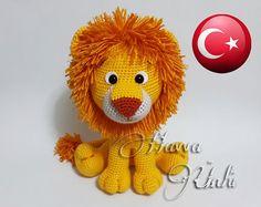 Türkçe Tarif  Sevimli Aslan by HavvaDesigns on Etsy