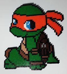 Baby Teenage Mutant Ninja Turtle Perler Beads by PrismaticPearls