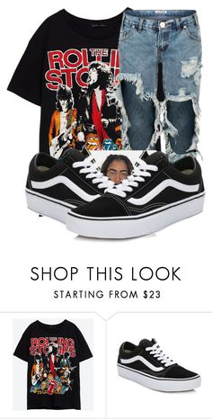 """""""Untitled #201"""" by trillest-qveen247 ❤ liked on Polyvore featuring Vans"""