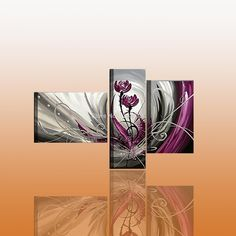 Cheap painting canvas oil, Buy Quality oil painting impressionism directly from China oil painting mixing colours Suppliers: Hand painted modern purple flower group oil painting for wall decor    Detail:   Size: 40X60CMX2P+30X70CM