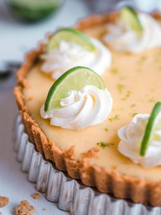 Key Lime Pie - Helppo Limepiiras (G) Sweet Pie, Sweet Sweet, Most Delicious Recipe, Key Lime Pie, Pie Recipes, Yummy Food, Baking, Desserts, Tarts