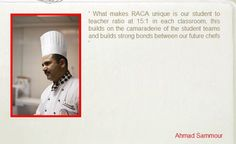 Pastry Chef @ RACA - Ahmad Sammour