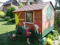 Zahradní domek pro dítě – 1. díl | Český Kutil.cz Pergola, Bird, Outdoor Decor, House, Home Decor, Cabin, Decoration Home, Home, Room Decor