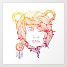 Dreaming about a Bear Art Print by Anders Teigene - $20.00