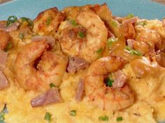 Shrimp and Grits recipe from Throwdown with Bobby Flay via Food Network