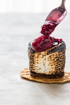 Roasted Berry S'mores are a fruity twist on a campfire classic. These roasted treats are made even more decadent with Campfire® Marshmallows Giant Roasters.
