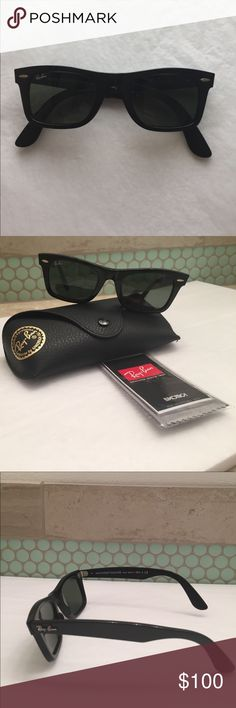 adcd37f7540 Ray-Ban Wayfarer Square Unisex Sunglasses Ray-Ban Wayfarer Square Sunglasses  Black frames