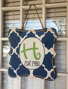 Welcome / Family Wooden Door Hanger / Year Round Use / Personalized