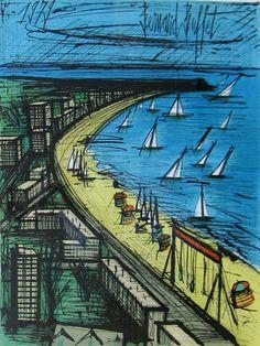 ビュッフェ/ラ・ボール海岸  http://www.e-galleryauction.com/gallery/2012_10/bf_lapole.html