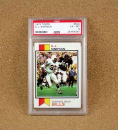 O.J. Simpson Running Back Football Card - Buffalo Bills TOPPS Card 500 - 1973 Excellent-Near Mint PSA Graded by N2THEATTIC on Etsy
