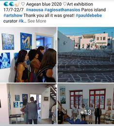 Paros Island, Canvas Artwork, Art Gallery, Digital, Artist, Blue, Art On Canvas, Art Museum, Artists