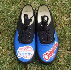 bbe0cf0644cfeb Items similar to Los Angeles Clippers Custom Vans on Etsy