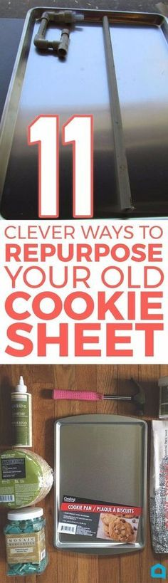 If you have an old cookie sheet lying around, you're going to want to see these brilliant ideas.