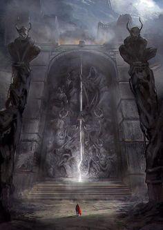 ideas for dark fantasy landscape rpg Dark Fantasy Art, Fantasy Artwork, Fantasy Concept Art, Fantasy Kunst, Dark Art, Fantasy Places, Fantasy World, Digital Art Illustration, Fantasy Setting