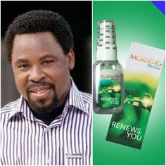 The respected picture is a combination of tb joshua ministries and his holy morning water- SCOAN MORNING WATER which is used by humongous christians to purify their soul . You can buy holy water online from - 'Yahweh' Emmanuel Tv, T.b Joshua, Morning Water, Praise And Worship Songs, Throw In The Towel, Seven Years Old, You Are Blessed, Living Water, Godly Man