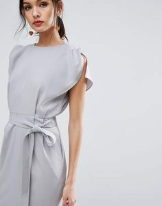 bb7b21384a7 Asos Belted Midi Dress with Split Cap Sleeve and Pencil Skirt - ShopStyle  Evening