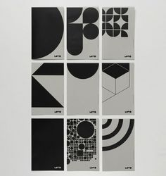 Estudio Ibán Ramón is a small team of designers based in Valencia. This is part of their 'we love geometry' project. Shape Posters, Graphic Design Posters, Graphic Design Illustration, Graphic Design Inspiration, Poster Art, Poster Layout, Design Graphique, Art Graphique, Art Design