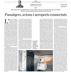 Passatgers, avions i aeroports connectats. #ATIS2016 #andromines #diariara