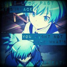 Ansatsu Kyoushitsu edit ~~Mino-dono~~ Don't look past my surface, you might not like what's underneath~~ Anime Yugioh, Anime K, Anime Pokemon, Mega Anime, Anime Plus, Anime Quotes Tumblr, Anime Qoutes, Manga Quotes, Anime Body