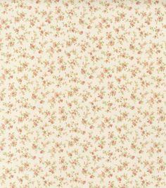Premium Quilt Fabric-Tiny Roses Ivory
