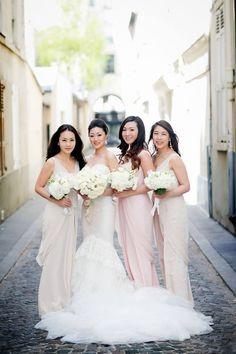 Bride And Bridesmaids Gowns Vera Wang