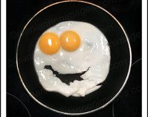 "Hello Ladies - Photograph from ""Sunny Side Up"" Series, Fried Egg Good Morning Food, Yellow Sunshine Happy Joy Smiley Face by Jean Lannen"