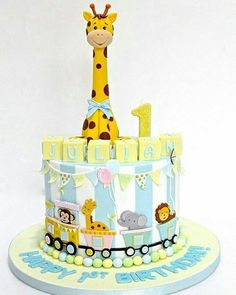Celebrate with Cake Safari Birthday Cakes, Safari Cakes, Baby Birthday Cakes, Baby Boy Cakes, Baby Shower Cakes, Carnival Cakes, Giraffe Cakes, Jungle Cake, Balloon Cake