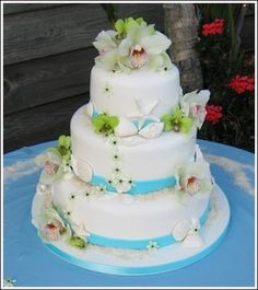 Wedding, Cake, Blue, Sweet traders - Photo by Sweet Traders