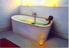 "Kaj Stenvall - ""The Light and Warmth in November November, Bathtub, Artists, Lighting, Pictures, Bath Tube, Photos, Bath Tub, Artist"