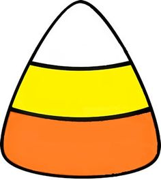 Zany image in candy corn printable