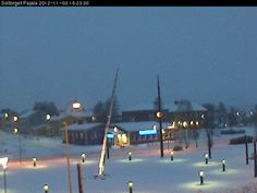 Webbkamera - Pajala - 3pm - blue time in the arctic circle of Sweden - Lapland
