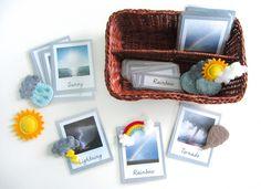 Felt Weather Station Pattern & Free 3-Part Cards
