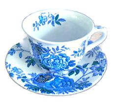 Masons Belvedere Tea Cup  Blue Floral 1950s by heartseasevintage,