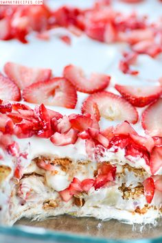 Strawberry Cheesecake Icebox Cake on MyRecipeMagic.com