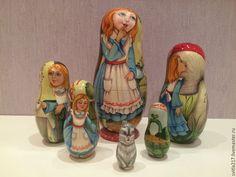 Купить Алиса - разноцветный, матрешка расписная, матрешка авторская, матрешка на заказ, матрешка коллекционная